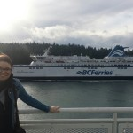 On the ferry to Victoria, we had a nice get away as a family just before Christmas.