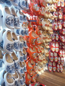 There weren't a lot of flowers at the Tulip Market yet, but there was a wall of wooden shoes! Can't get more Dutch than that...