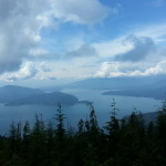 It cleared a little on the way down and we got an amazing view of Howe Sound!
