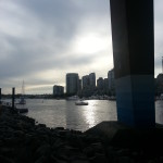 The inlet of Vancity. So pretty at sunset!