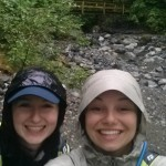 Selfie hiking in the pouring rain! Such a fun day with ma gurl!