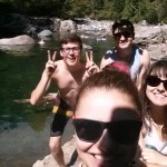 Just some kids chillin at Gold Creek. Awesome day with some crazy cold water...!