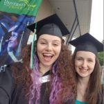 We were goofy smiles and selfies for our grad day - having survived 18 years of school! ;)