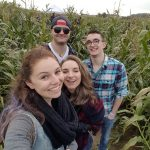 Just chilling in an unsquished section of a very sad corn maze.